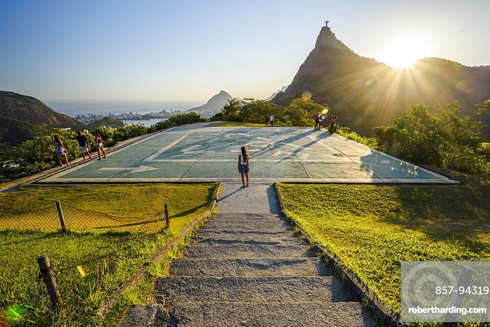 View from Mirante Dona Marta to Corcovado Mountain, Rio de Janeiro, Brazil