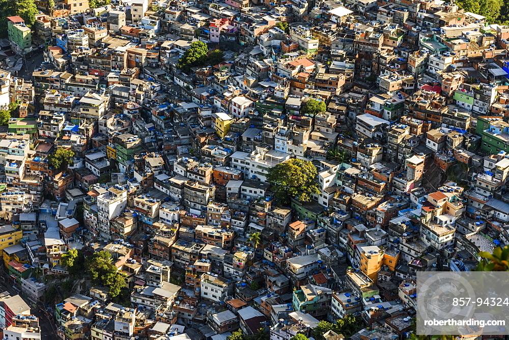 Rocinha Favela, Brazil's largest slum, in Rio de Janeiro, Brazil