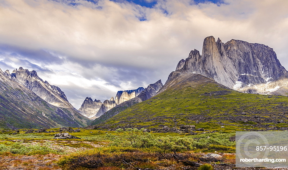 Majestic natural scenery with mountain range in Tasermiut Fjord, Greenland