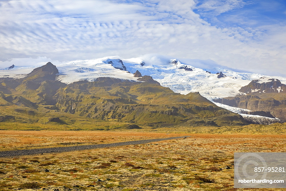 Majestic natural scenery with view of snowcapped mountains, Ring Road, Iceland
