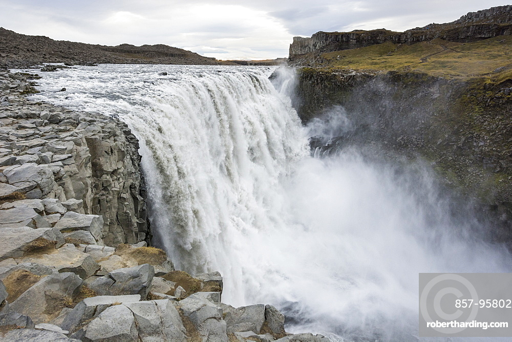 Dettifoss, Europe's most powerful waterfall, raging in North Iceland.