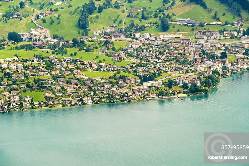 TownscapeonLucerneLake shore, Lucerne, Switzerland