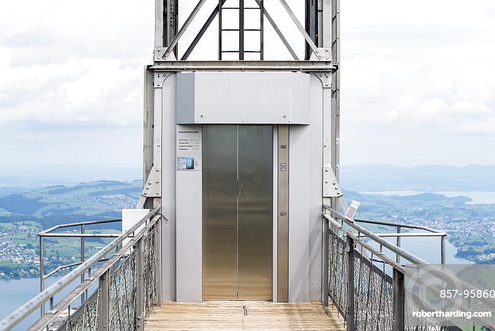 Exterior of burgenstocklift onLucerneLake, Lucerne, Switzerland