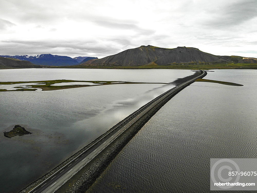 Aerial view of coastal road onSnaefellsnesPeninsula, Iceland