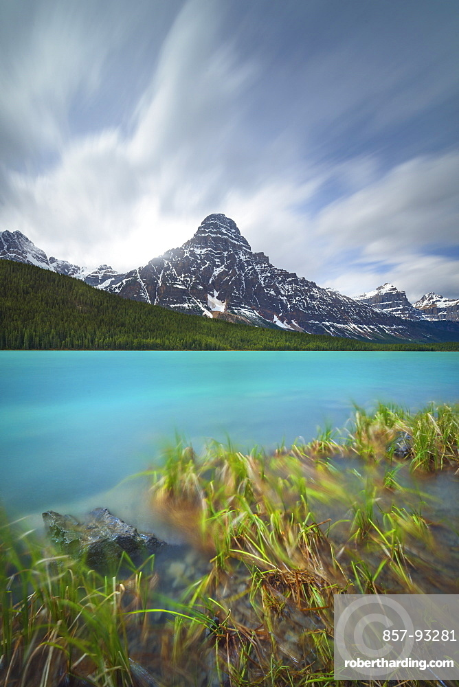 Scenic View Of Waterfowl Lakes With Rocky Mountain In Canada