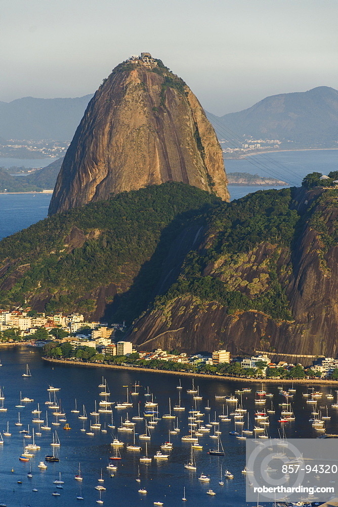 Sunset on Sugar Loaf Mountain seen from Mirante Dona Marta, Rio de Janeiro, Brazil
