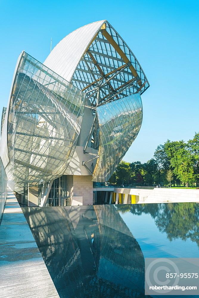 Futuristic architecture of Louis Vuitton Foundation building, Paris, France