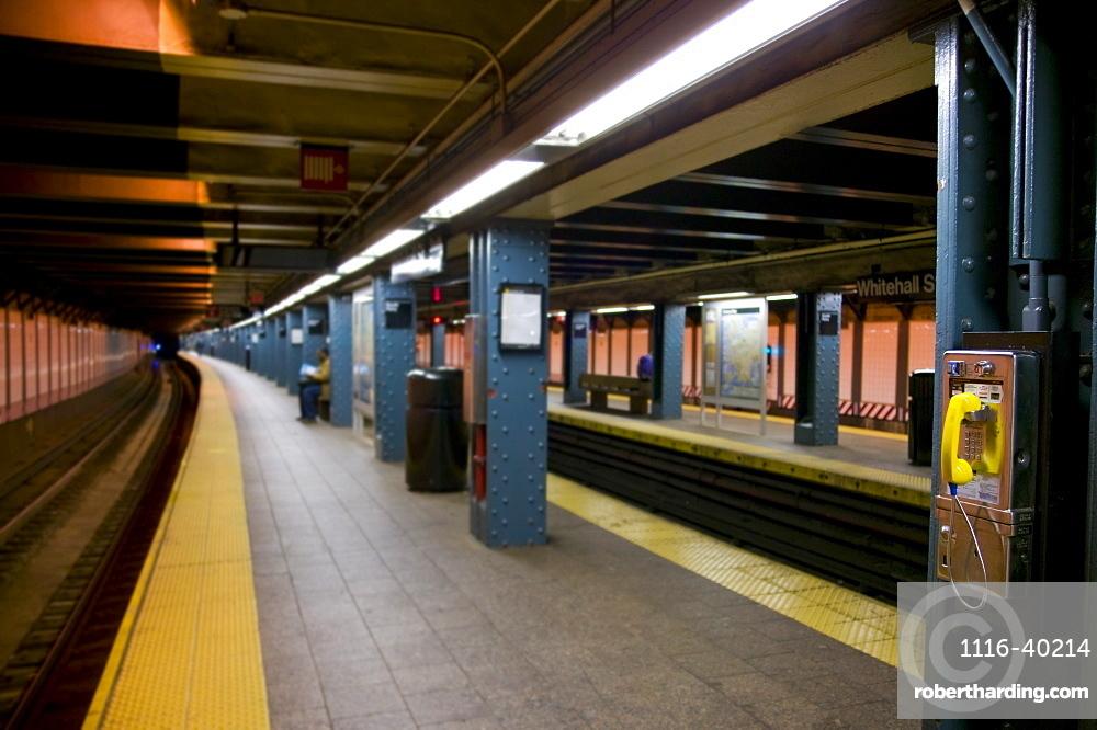 Telephones In New York City Subway Station, New York City, Usa