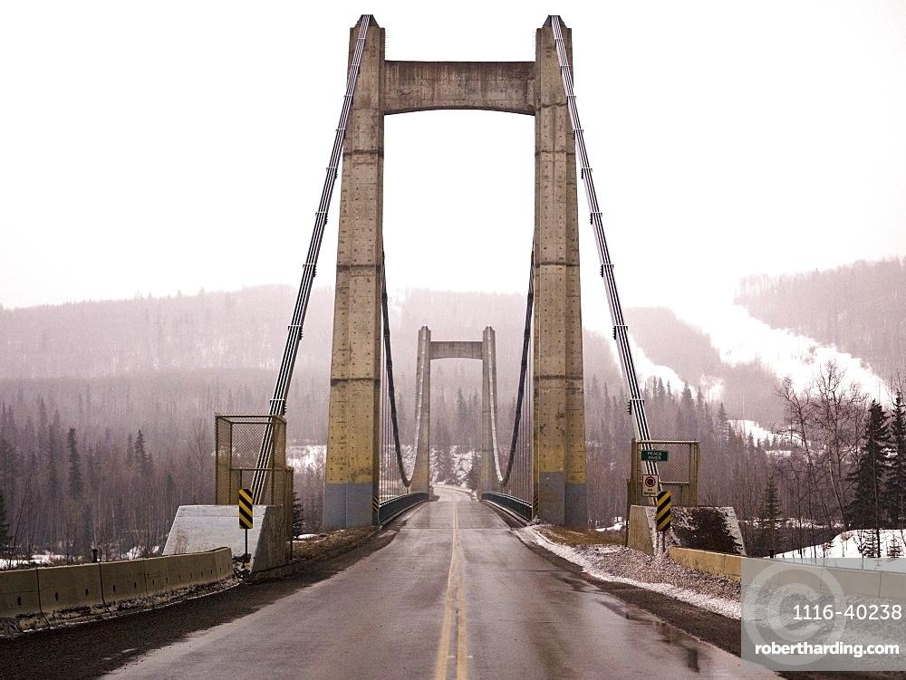 Hudson's Hope Suspension Bridge, Peace River Regional District, British Columbia, Canada