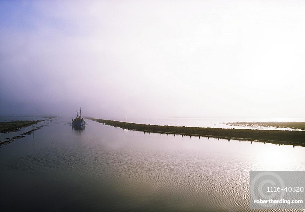Sailboat On A Misty Morning, Killala, County Mayo, Ireland