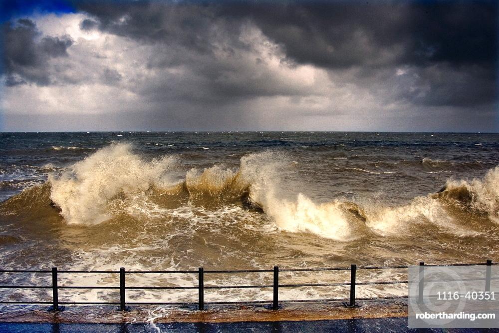 Stormy Seascape, Sunderland, Tyne And Wear, England, United Kingdom