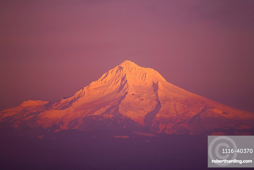 Sunset, Mount Hood, Oregon, United States Of America