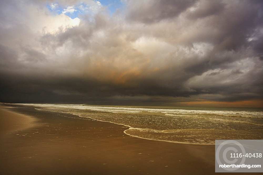 Storm Clouds Over Beach