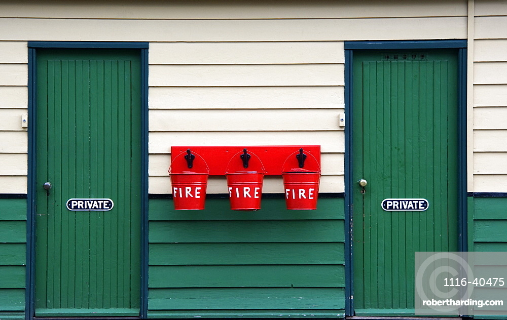 Two Doors And Buckets For Fire Prevention