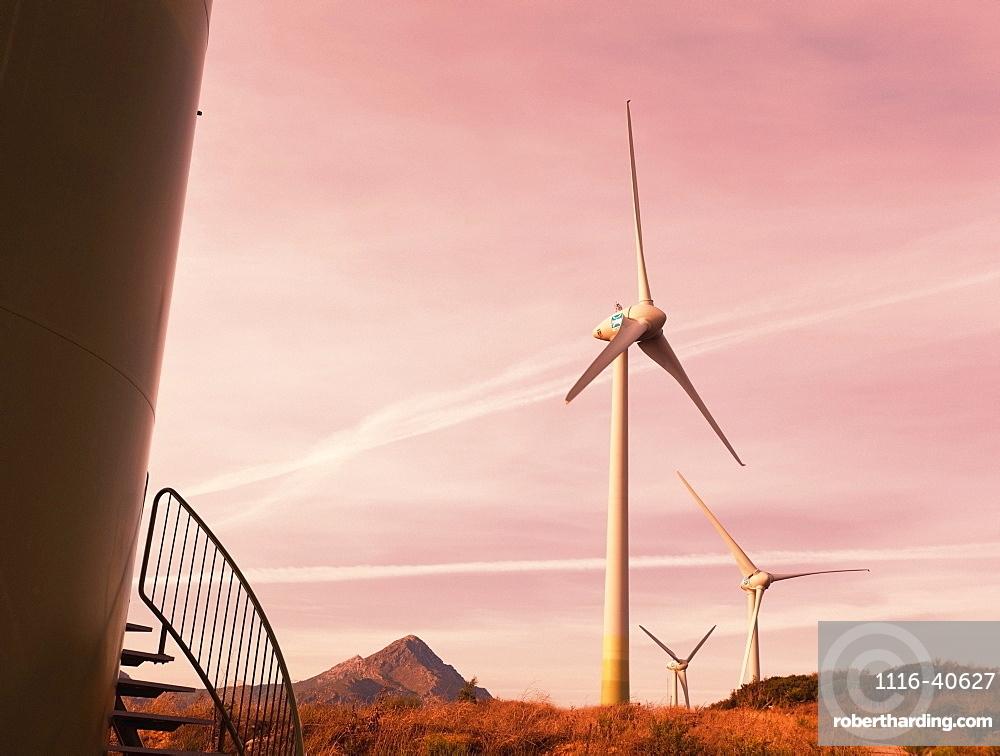 Casares, Spain, Three Windmill