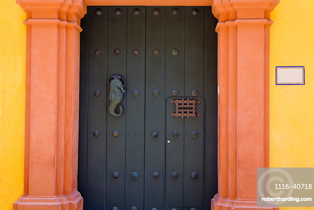 Cartagena City, Bolivar State, Colombia, Central America, Door In Old Walled City District