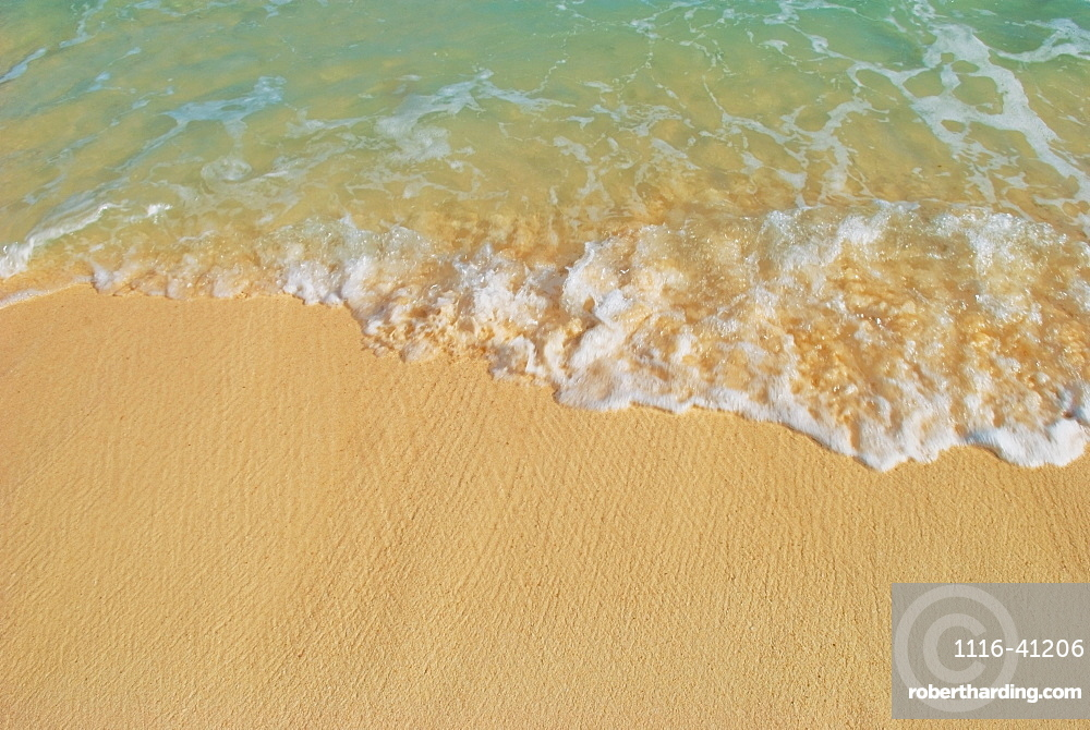 Water Washing Up On The Sand, Mayan Riviera, Mayan Riviera, Akumal, Mexico