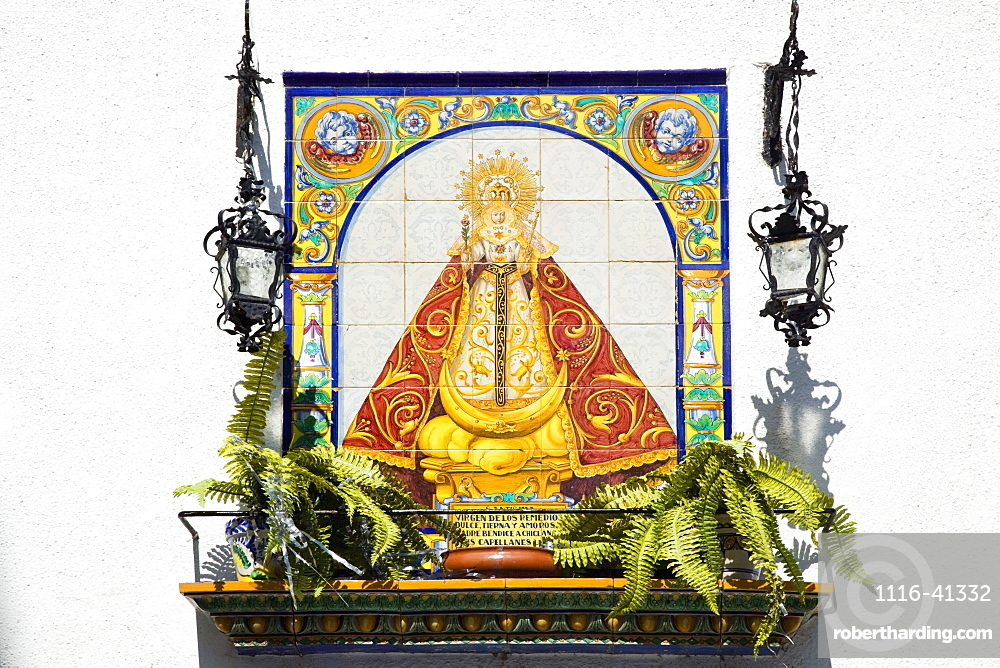 Chiclana, Andalusia, Spain, A Picture Of The Virgen De Los Remedio