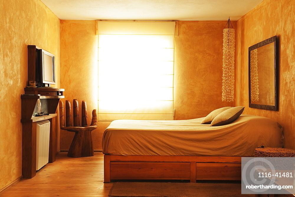 Interior Of A Bedroom, Tarifa, Cadiz, Andalusia, Spain