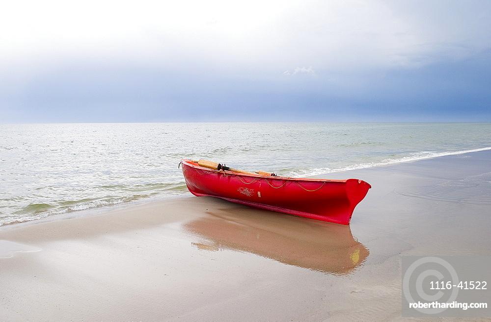 Boat At The Seashore, Baltic Sea