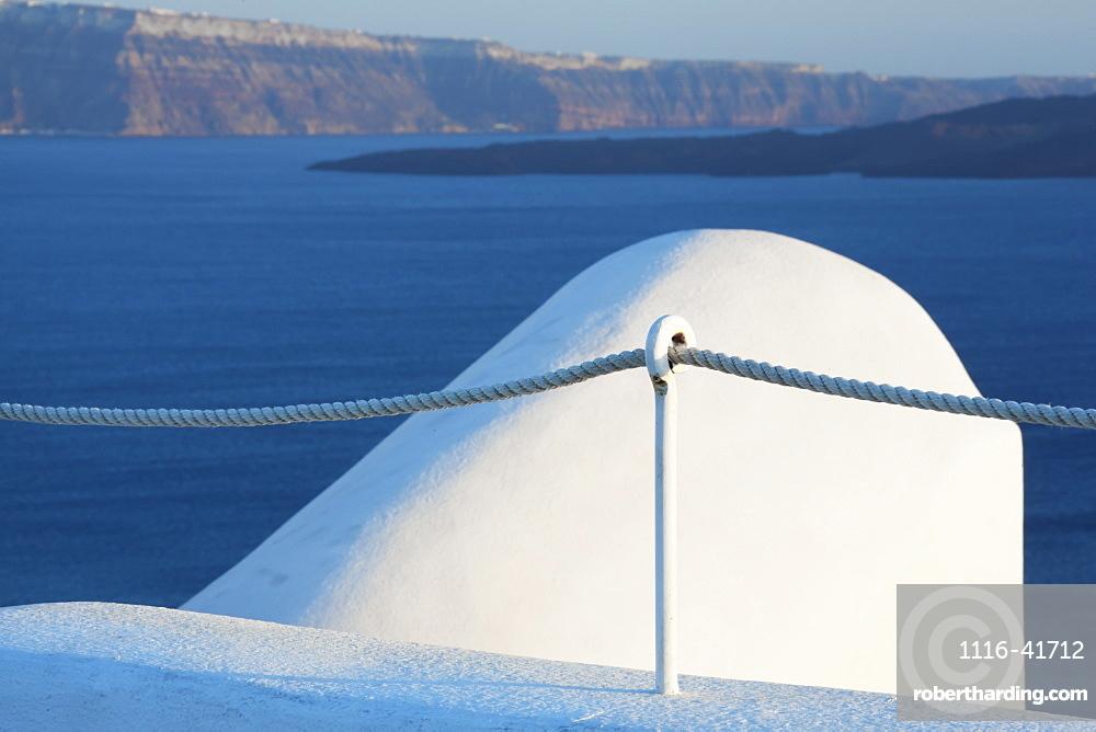 The coastline of the aegean sea, Oia greece