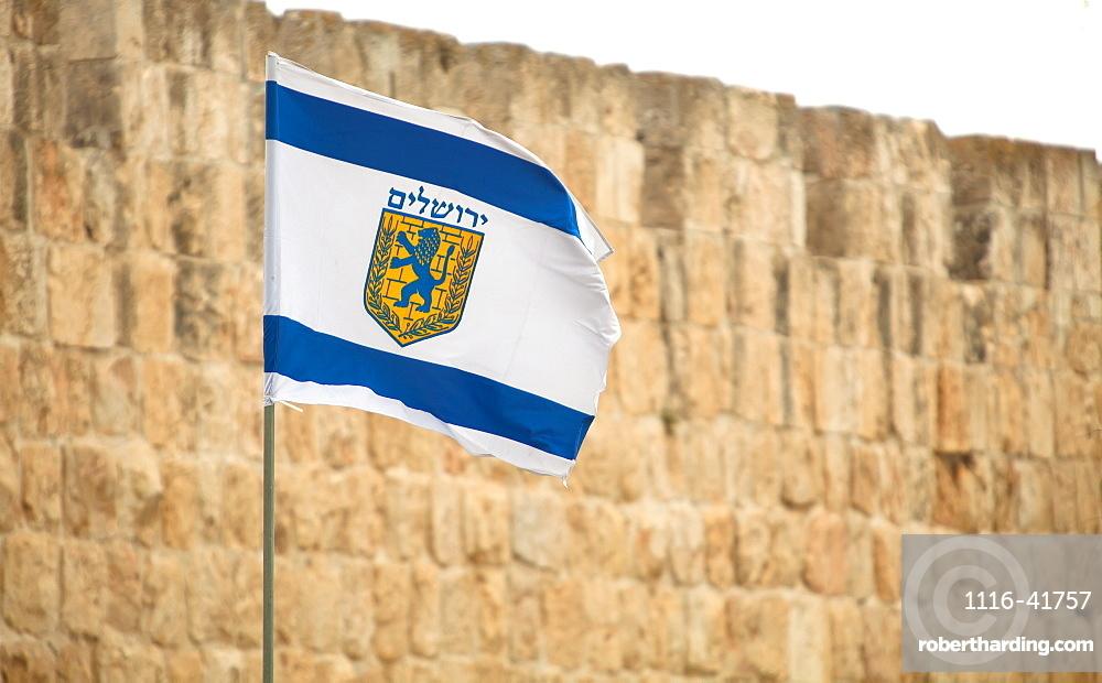 The municipal flag of jerusalem, Jerusalem israel