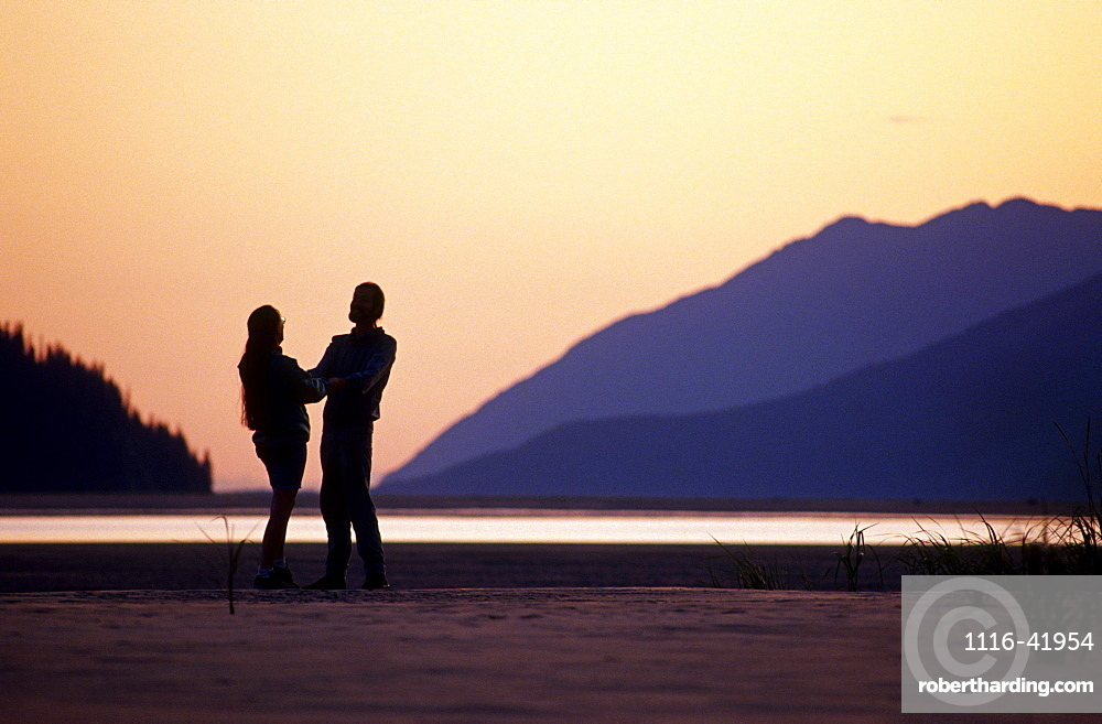 Couple @ Sunset Turnagain Arm Sc Ak