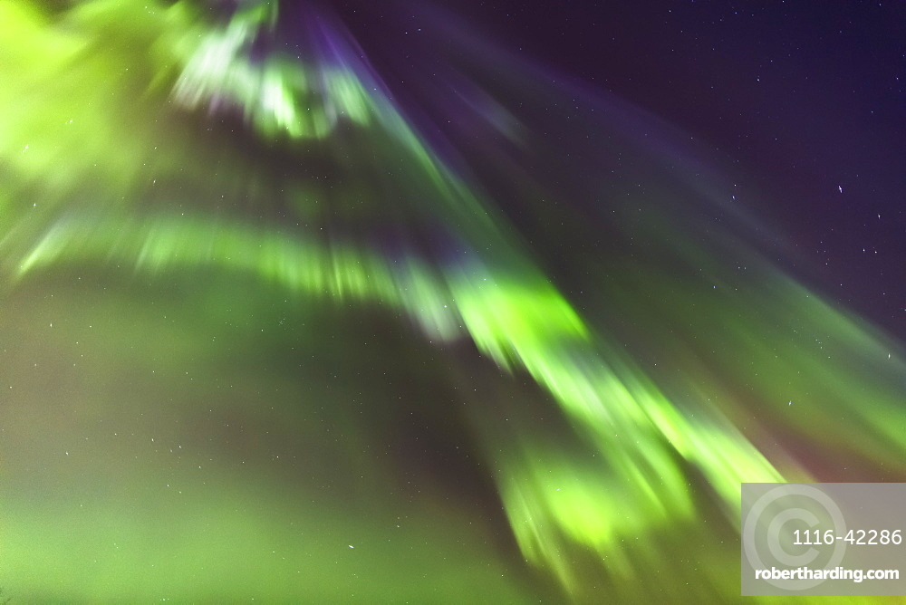 Northern Lights In The Sky Above The Tony Knowles Coastal Trail, Anchorage Coastal Refuge, Anchorage, Alaska, United States Of America