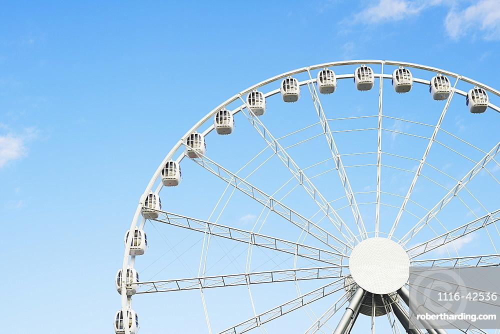 Detail Of Ferris Wheel In Divo Ostrov Amusement Park, St. Petersburg, Russia
