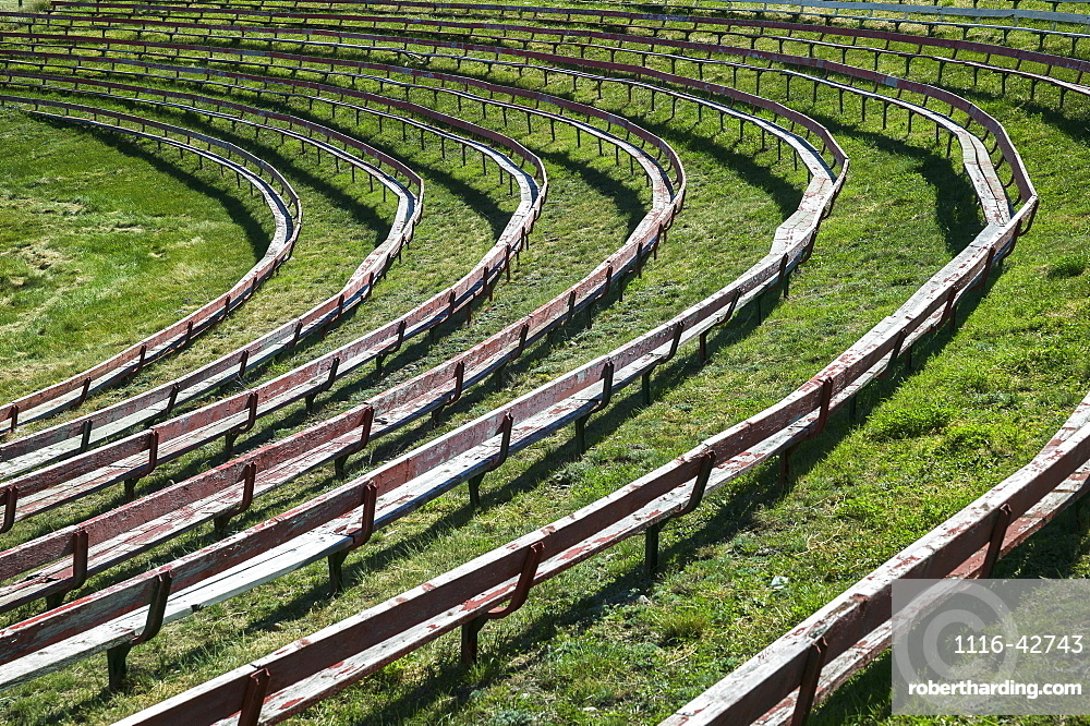 Seats In A Rodeo Ground, Alberta, Canada