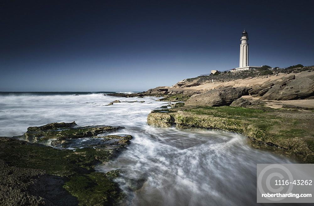Lighthouse, Cape Trafalgar, Los Canos De Meca, Costa De La Luz, Cadiz, Andalusia, Spain