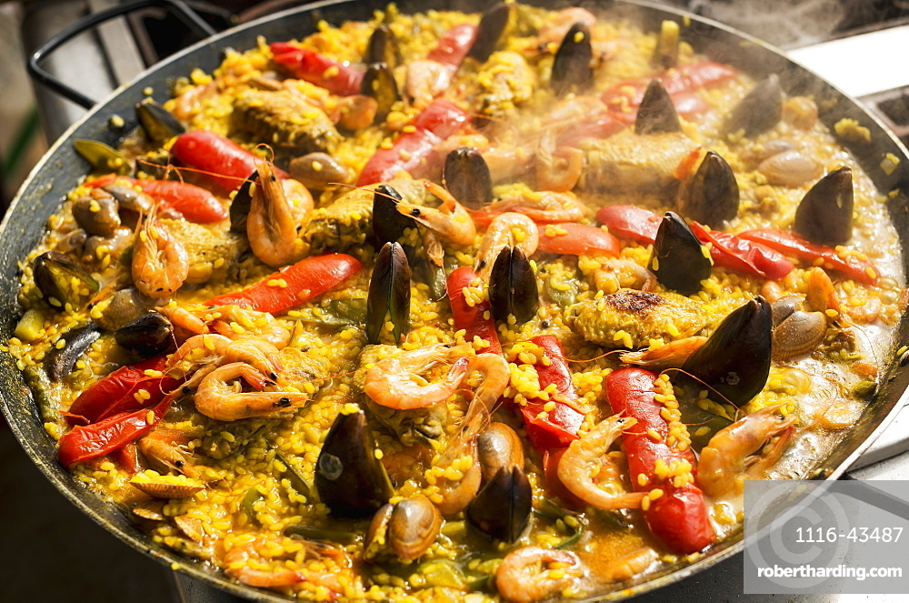 Delicious Paella, Traditional And Famous Spanish Dish, Xiamen, Fujian Province, China