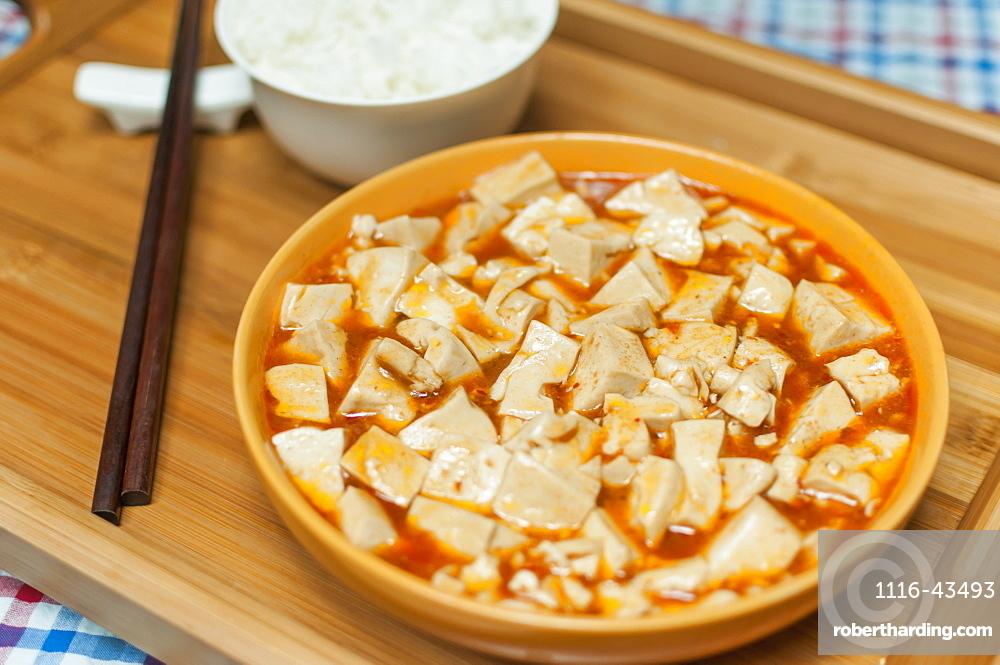Chinese Braised Tofu, Wuhan, Hubei Province, China