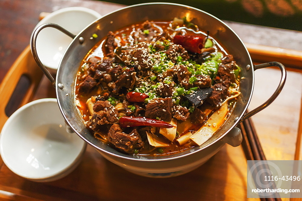 Typical Chinese Braised Beef, Wuhan, Hubei Province, China