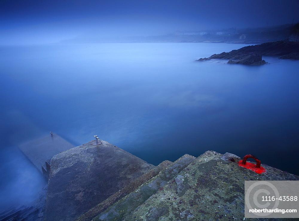 Foggy Coastline Around Roches Point In Cork Harbour, County Cork, Ireland