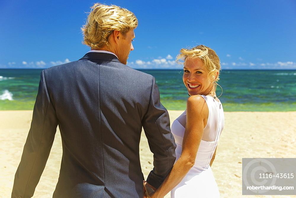 Beach Wedding, Kauai, Hawaii, United States Of America