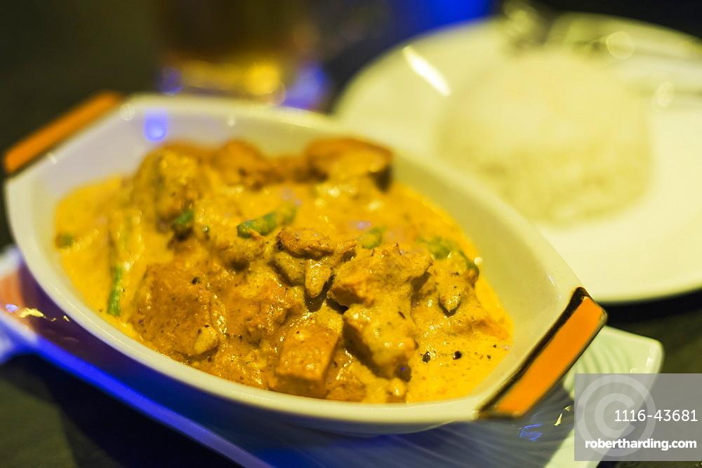 Khmer Chicken Curry From Local Restaurant, Battambang, Cambodia