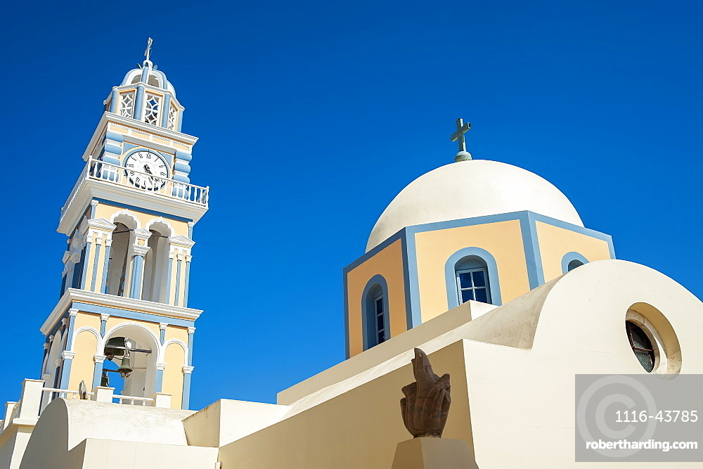 Fira's Catholic Cathedral Dedicated To Saint John The Baptist, Santorini, Greece