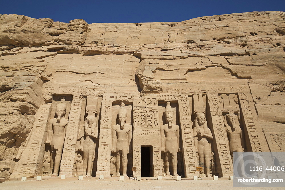 Hathor Temple Of Queen Nefertari, Abu Simbel Temples, Egypt
