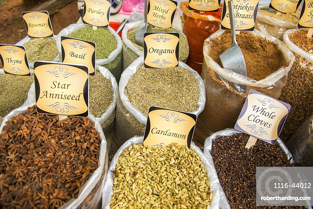 Various Spices For Sale At The Market, Pretoria, Gautang, South Africa