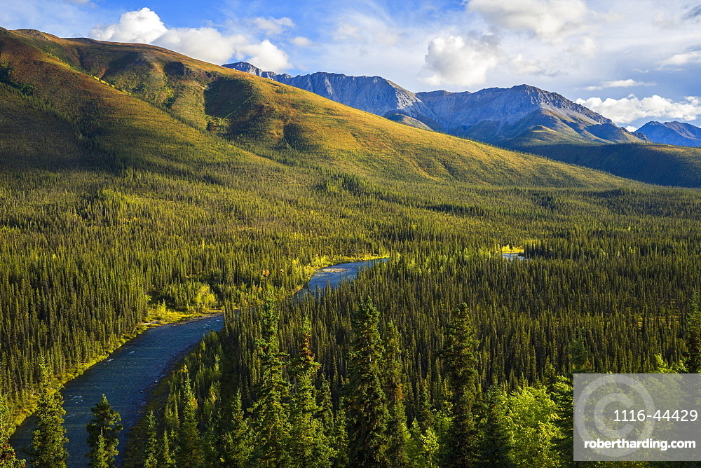 The Lapie River Runs Through The Wilderness Along The South Canol Road, Yukon, Canada