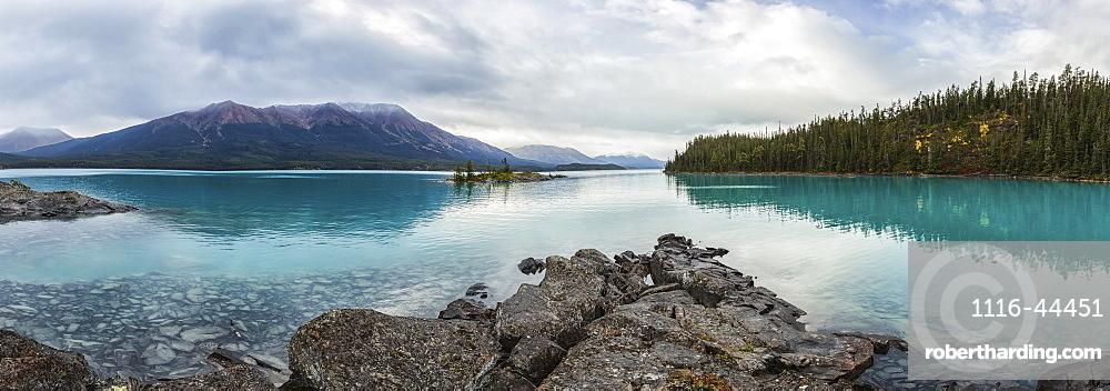 Panoramic View Of Atlin Lake, British Columbia, Canada