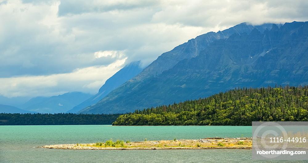 The Glacial Blue Waters Of Naknek Lake, Alaska, United States Of America