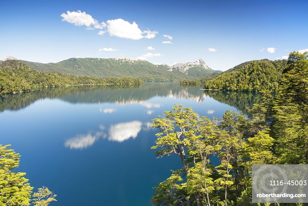 Beautiful Blue Mountain Lake Of Patagonia, Argentina