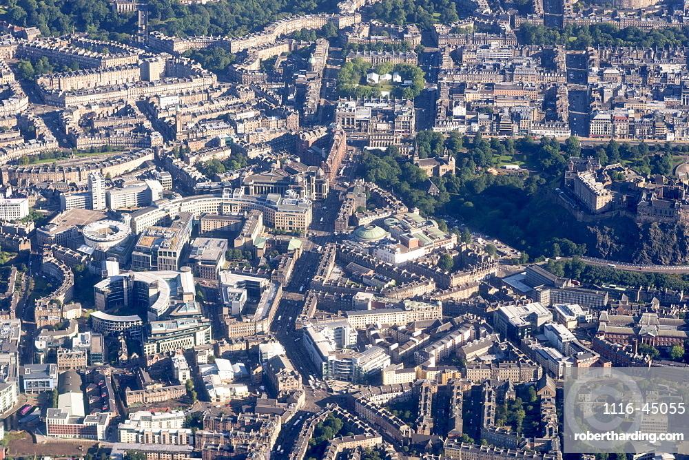 Aerial View Of The Buildings In Edinburgh, Edinburgh, Scotland