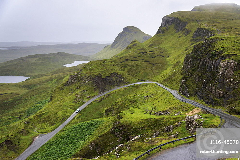 A Road Winding Through The Mountains, Highlands, Staffin, Scotland