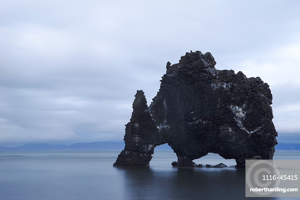 The Sea Stack Known As Hvitserkur, Iceland