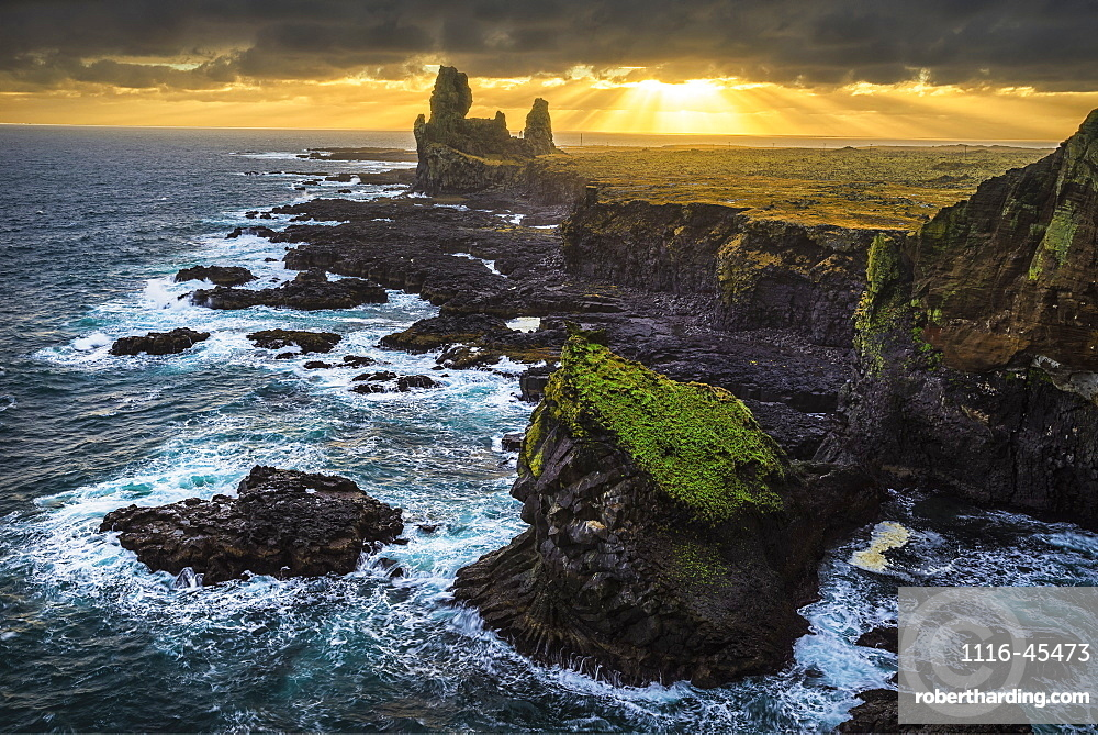 The Sea Stack Known As Londranger Rises Above The Landscape, Snaefellsnes Peninsula, Iceland