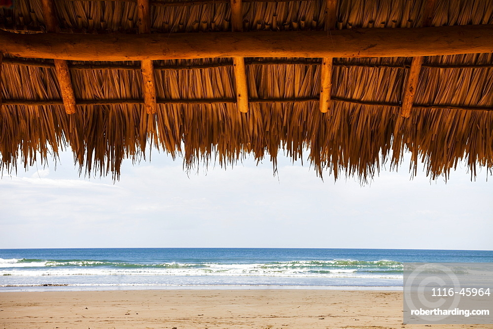 Shaded Shelter With Straw Top In Playa Hermosa, Nicaragua