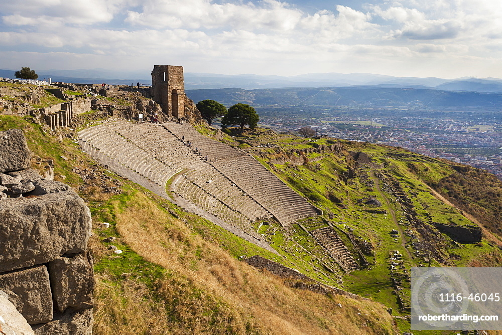 Ruins Of The Theater In Pergamum, With Such Good Acoustics That A Whisper Onstage Could Be Heard All The Way To The Top Row, Pergamum, Turkey